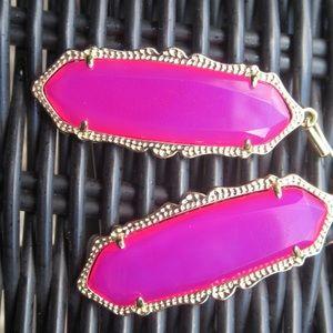 Kendra Scott Fran pink Agate Earrings